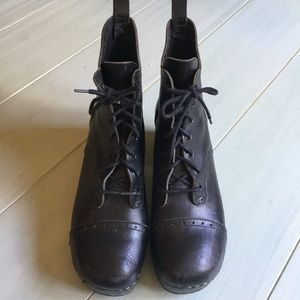 9a58bd6227c7 Swedish Hasbeens Shoes - Swedish Hasbeens Grandma Lace Up Plateau Boot